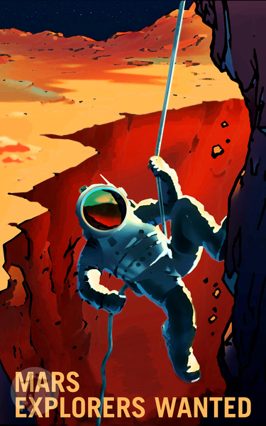 Продажа картины - EXPLORERS WANTED ON THE JOURNEY TO MARS - NASA/KSC